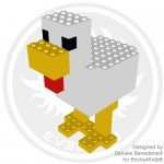 Minecraft Chicken made with LEGO bricks