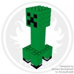 Minecraft Creeper large model made with LEGO bricks