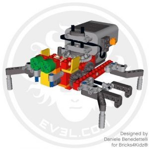 This walking LEGO spider was made by freelance LEGO designer Daniele Benedettelli for Bricks4Kidz