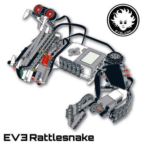 Lego mindstorms ev3 rattlesnake dannys lab a fierce lego reptile sciox Choice Image