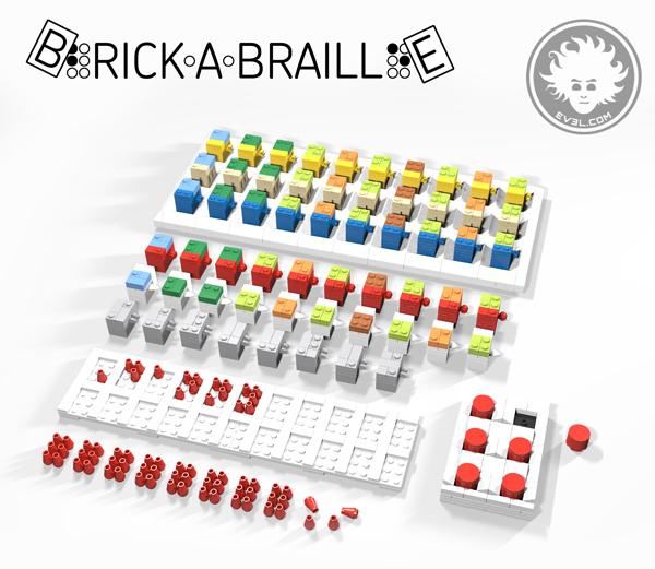 Brick-a-Braille is a modular Braille teaching system based on LEGO bricks