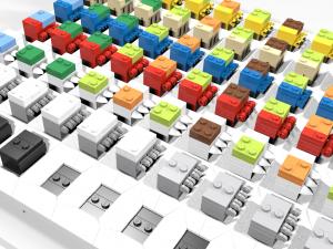 LEGO Braille teaching system detail