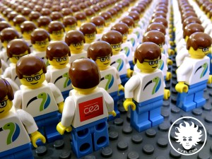 LEGO CEA-LIST Papyrus minifig army