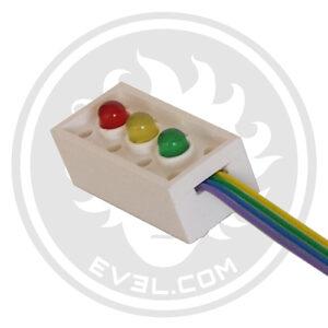 Custom LEGO LED status light brick