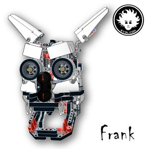 Frank is a creepy LEGO MINDSTORMS EV3 animatronic head
