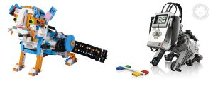 LEGO BOOST Frankie the Cat resembles LEGO MINDSTORMS Education EV3 Puppy (by LEGO designer Lee Magpili)