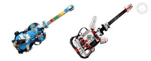 LEGO BOOST Guitar4000 resembles LEGO MINDSTORMS EV3 EL3CTRIC GUITAR