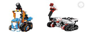 LEGO BOOST Multi-Tooled Rover 4 resembles LEGO MINDSTORMS EV3 TRACK3R