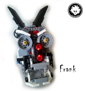 A LEGO MINDSTORMS EV3 animatronic head built with Education core set 45544