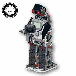 This EV3 biped robot can smoothly walk and turn and carry objects on its tray.