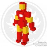 Iron Man model made with LEGO bricks