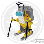 LEGO Technic motorized skier