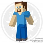 I realized this LEGO model of Minecraft Steve as a LEGO designer for Bricks4Kidz