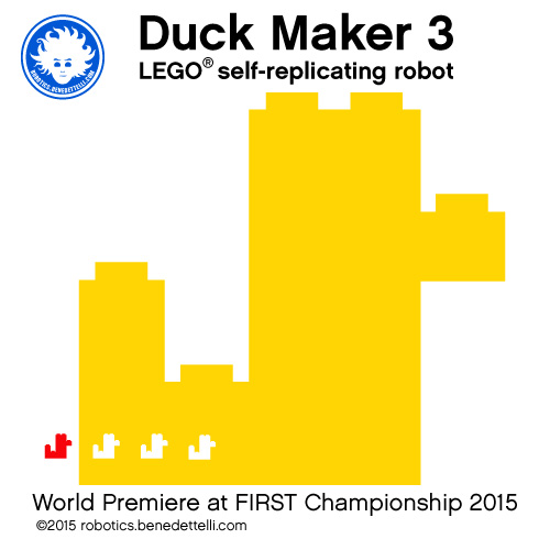 Duck Maker 3 is a LEGO self-replicating robot