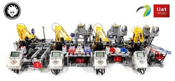 LEGO Car Factory built with LEGO MINDSTORMS EV3 and custom electronics