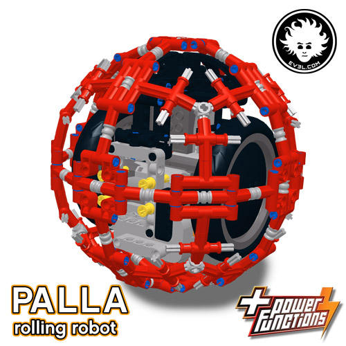 The LEGO rolling robot that seems BB-8 droid