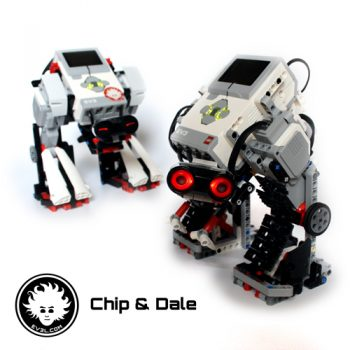 Chip & Dale are LEGO mecha built with Edu and Retail set