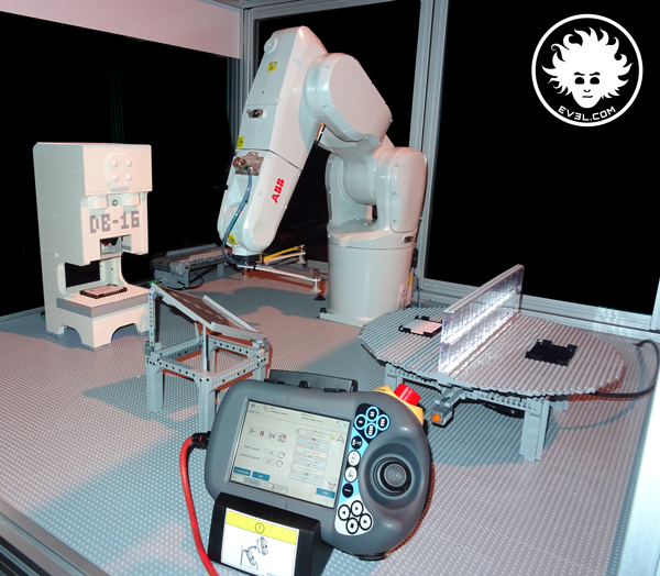 LEGO robotic cell model for ABB press automation | Danny's LAB