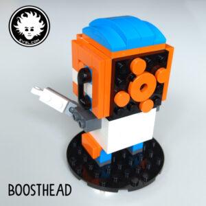 BOOSTHEAD: a LEGO BOOST BrickHeadz mascotte (back view)