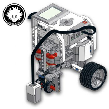 EV3 tricycle robot that can smoothly follow lines on the ground