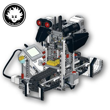 A LEGO MINDSTORMS EV3 robot that can build LEGO ducks