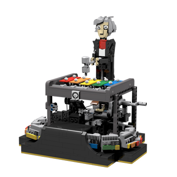 LEGO automaton that can play programmable tunes on a xylophone