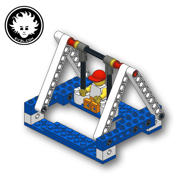 A simple LEGO swing built with Simple & Powered Machines set 9686