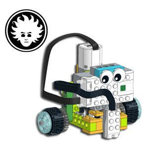 LEGO WeDo 2.0 line following robot uses a special mechanism to drive and steer