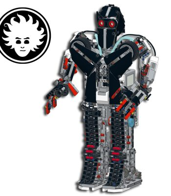 The JAEG3R is a massive LEGO MINDSTORMS EV3 humanoid robot