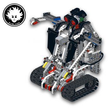 A LEGO MINDSTORMS Education EV3 transformer robot that can turn into a bulldozer