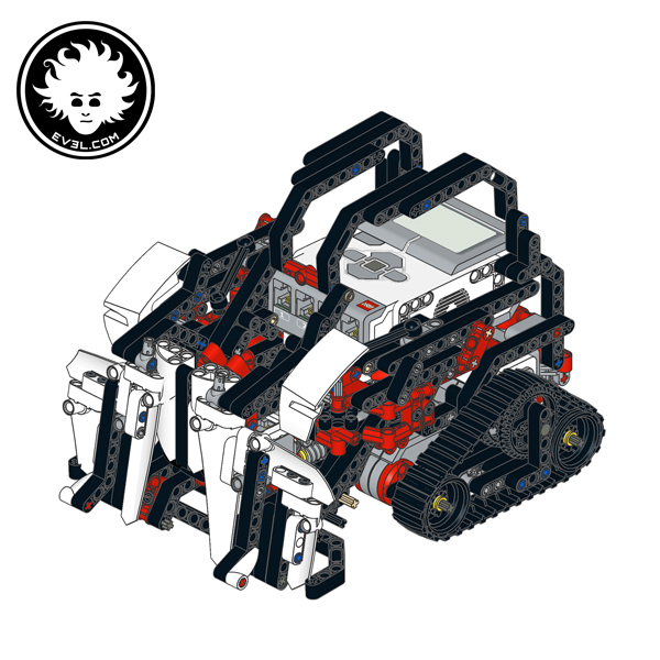 A LEGO MINDSTORMS Retail EV3 transformer robot that can turn into a bulldozer
