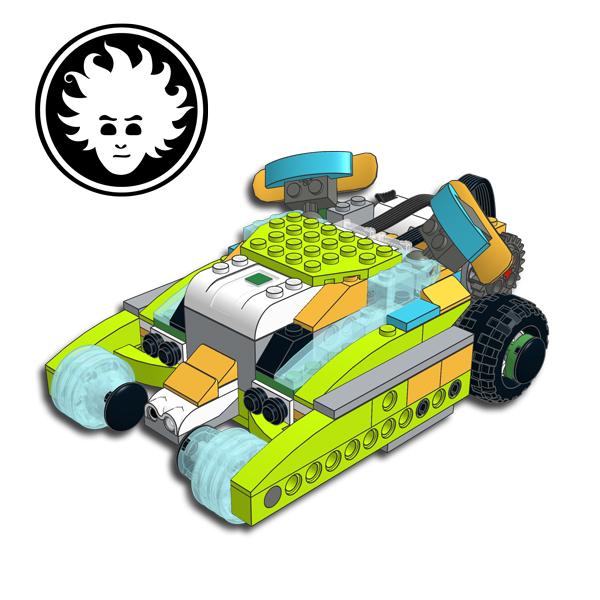 Batman Tumbler batmobile built with LEGO WeDo 2.0
