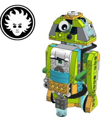 Star Wars Astromech Droid R2-D2built with LEGO WeDo 2.0 set