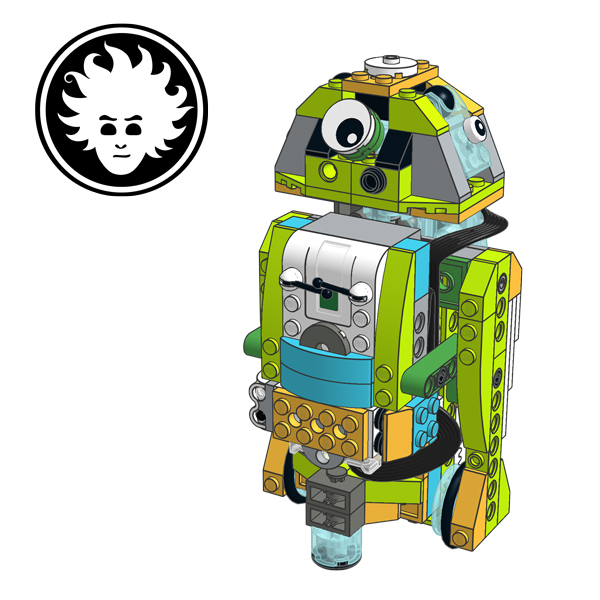 Star Wars Astromech Droid R2-D2built with LEGO WeDo 2.0 set