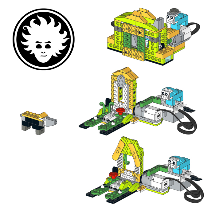 The Three Little Pigs classic story staged with the LEGO WeDo 2.0 set 45300.