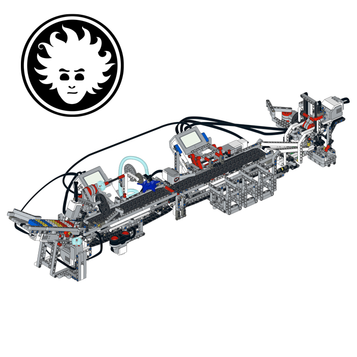 LEGO Plastic Recycling Plant that simulates shredding, washing, sorting and injection molding