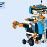 LEGO WALL-E built with LEGO BOOST Creative Toolbox set 17101building instructions demo 2