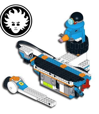 Whac-a-mole game built with LEGO BOOST Creative Toolbox 17101.