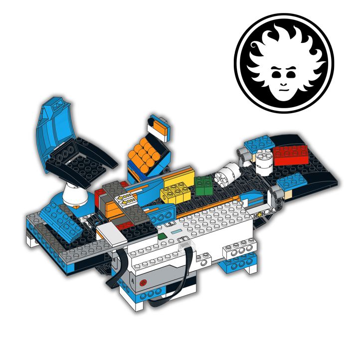 A functional LEGO Cash Register based on LEGO BOOST Creative Toolbox 17101.