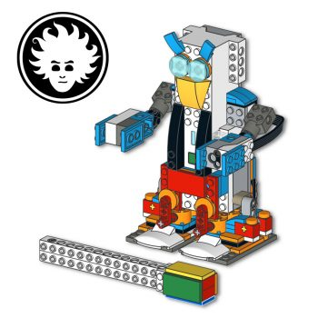 A smooth LEGO BOOST walker biped robot that can balance on two legs and turn