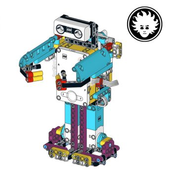 HugBot is a LEGO biped walking robot that can grab and lift objects