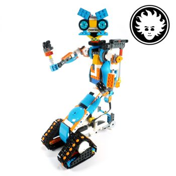 Johnny 5 from Short Circuit built with the LEGO BOOSTset #17101.